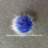 Много шлем Knit шерсти Fox POM Faux цветов POM