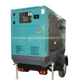 Equipamento eléctrico 50kVA gerador diesel tipo de reboque