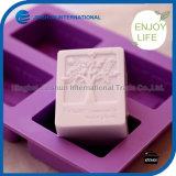 Moule à gâteau au savon en silicone à 4 cavités