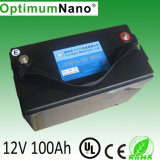 Batterie solaire rechargeable au lithium LiFePO4 Gel UPS 12V