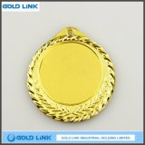 彫版メダルブランクの金メダルのカスタムロゴのブランクメダル