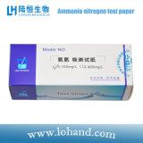 papel de prueba de nitrógeno del amoníaco del probador de la calidad del agua de 100strips/Tube/Box Lohand