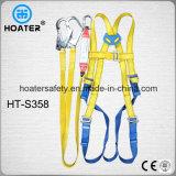 Pleine ceinture de sécurité d'amortisseur de harnais de corps avec de grands crochets
