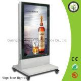 二重側面LEDのライトボックスを広告する習慣によって照らされる立場