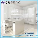 Azulejo de suelo Polished de la porcelana del color blanco del diseño de Linestone del material de construcción