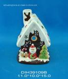 Supporto di candela di ceramica di Tealight della Camera di natale