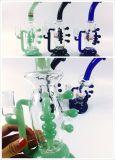 Venda por atacado 11 polegadas de plataforma petrolífera de vidro da tubulação de água da jaritataca do cal