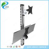 Eo brazo ergonómico y bandeja del eslabón giratorio de 180 grados que son canalización vertical plegable del monitor Ws06