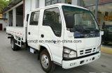 Carro del camión de Isuzu 600p con la cabina doble de la fila