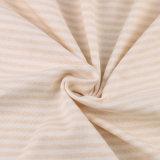 증명서를 준 유기 면 직물 뜨개질을 하는 직물