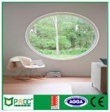 De estilo francés de la ventana redonda de aluminio con doble vidrio