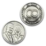 Promoción de la plata de alta calidad de la Moneda de recuerdos titular de la moneda de oro llavero