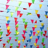 Étamine de repérage d'indicateur de triangle estampée par coutume colorée pour la décoration