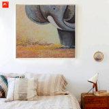漫画の野性生物の赤ん坊象の油絵