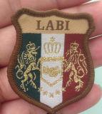 半端ものは文字を入れる刺繍パッチのカスタムロゴのバッジ(GZHY-PATCH-005)に