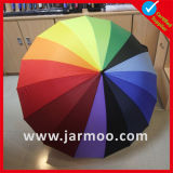 Custom 16 Ribs Rainbow Sun Umbrella