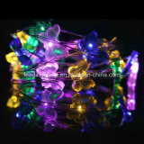 RGB 건전지 팩에 의하여 주문을 받아서 만들어지는 유효한을%s 가진 빛나는 나비 20 LED 6.6 발 끈 빛