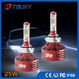 25W Auto Headlight Auto iluminação carro LED cabeça luz
