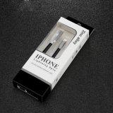 câble usb de 1m pour l'iPhone 7 6s 6 plus 5 5s le mini 2 3 air de l'iPad 4 2 avec le câble plat en alliage de zinc de chargeur de synchro USB de caractéristiques de fil de PVC