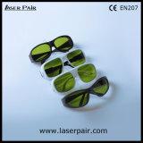40% transmitância de 755nm óculos de segurança de laser/ Segurança Laser Óculos para Lasers Alexandrite com a estrutura 33