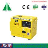 6kVA портативный тип воздух охладил тепловозную пользу дома генератора