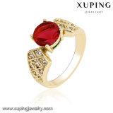 Un anello delle 14232 di modo donne cubiche Gold-Plated di Zirconia per il giorno del biglietto di S. Valentino