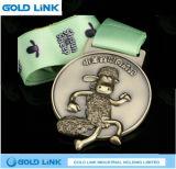 Le métal courant de médaille de module de finition de marathon fait sur commande de médailles ouvre le souvenir