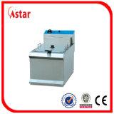 6L Industry Fryer for Sale, Aster 2 Tank 2 Basket Fryer elétrico com filtro Hot no Brasil Malaysia Philipines