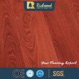 Plancher en gros de stratifié en bois de chêne de perle du film publicitaire 12.3mm E1 HDF AC4