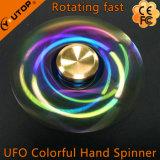 長く回転を用いる普及した虹UFOの落着きのなさの紡績工