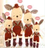 Boneca de pano de coelho de peluche macia e bonita