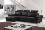 Sofá de cuero moderno de calidad dorada para la venta Muebles de sala de estar