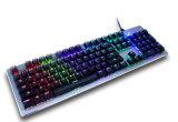 Польностью ключевая неограниченная связанная проволокой USB клавиатура цветастого разыгрыша режима Backlight механически