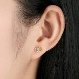 발렌타인의 선물 두 배 심혼 925 순은 보석 고정되는 목걸이 반지 귀걸이 보석 세트