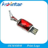Disque en cristal imperméable à l'eau du bijou USB du collier USB Pendrive mini