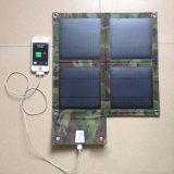 電話タブレットのパソコンのための10W 2Aの太陽電池パネルの充電器を折る高性能