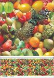 多彩なPVCホームまたは党のためのフルーツデザインの透過テーブルクロスをまたは屋外は印刷した