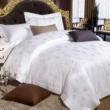 stellte weiße Jacquardwebstuhl-Bettwäsche der Baumwolle60s für Stern-Hotel ein (DPFB8099)