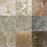 De aangepaste Natuurlijke Witte Grijze Beige Bruine Zwarte Marmeren Tegel van de Vloer