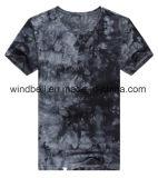 Maglietta alla moda della Jersey per gli uomini con la tintura del legame