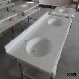 Vanità poco costosa prefabbricata della stanza da bagno dell'hotel della mobilia superiore del bagno del quarzo