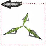 Punta tradizionale della freccia delle lamierine fisse di Broadhead 3 per l'arco composto