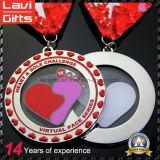 2017 El más reciente medalla de Ejecución de metal de acrílico transparente