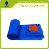 Bâches de protection en plastique Tarps enduit Tb003 de HDPE renforcées par feuille de bâche de protection de PE