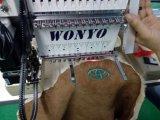 [وونو] 1 رئيسيّة غطاء و [ت-شيرت] نوع مسطّحة حوسب تطريز آلة سعر الصين رأس وحيدة