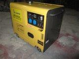 5kw 휴대용 공냉식 침묵하는 디젤 엔진 발전기