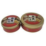Impression couleur or Ensemble rond Boîte en étain pour boîte à emballage de gâteau