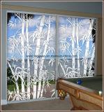 착색한 장식적인 산에 의하여 식각된 유리제 샤워 문 예술 젖빛 유리를 지우십시오