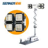 Mât télescopique à montage pneumatique à montage mobile Tour de lumière mobile