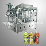 Flüssiges Getränkefüllende und mit einer Kappe bedeckende Maschine für Plastikbeutel